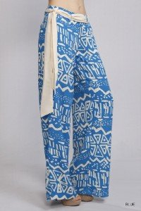 Womens Medium Pants Tribal Pattern Blue Pants Soul of the Sea ~~
