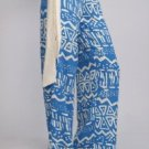 Womens Small Pants Tribal Pattern Blue Pants Soul of the Sea