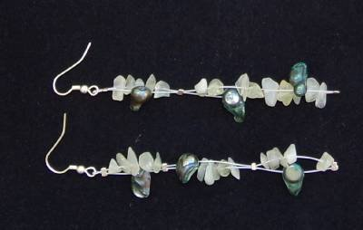 Soul of the Sea Seaside Pearl Earrings Made in USA Unique Original ~~