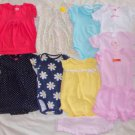 Infant Size 6 Months Top Onesies Dress Outfits 6-9 Months 9 Pieces Ex Cond ~~