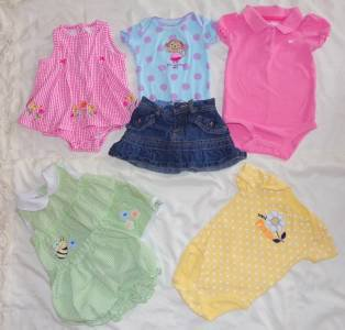 Infant Size 6 Months Top Onesies Skirt 6-9 Months 6 Pieces 1 12 Month Top ~~~~~