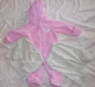Infant Size 6 Months Coat Bunny Style Jacket and 9 Month Outfit Ex Condition ~~~
