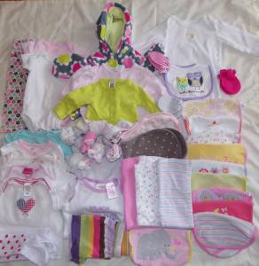 Infant Size 3 Months Top Pants Skirt Gown Bib Socks Onesie Outfits 15 Pieces