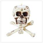 31079 Skull tripod candleholder