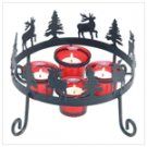 38375 rustic reindeer candle holder