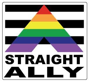 Gay Pride Straight Ally Sticker