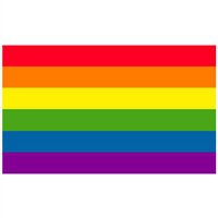 Gay Pride Rainbow Flag Sticker 3 X 3