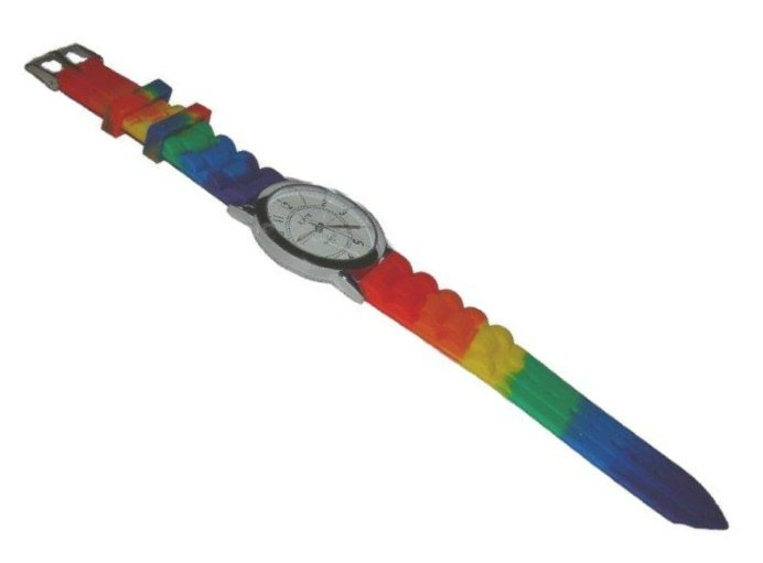 GAY PRIDE RAINBOW SILICONE BAND UNISEX WRISTWATCH WATCH
