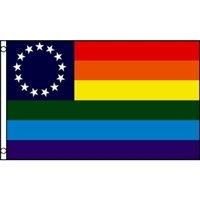 Gay Pride Betsy Ross Flag