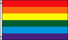 Gay Pride Rainbow Flag 3 x 5 Foot Polyester