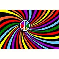 Gay Pride Peace Sign Flag