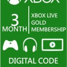 Xbox Live 3 Month Gold Membership Card Code - Immediate Delivery Email