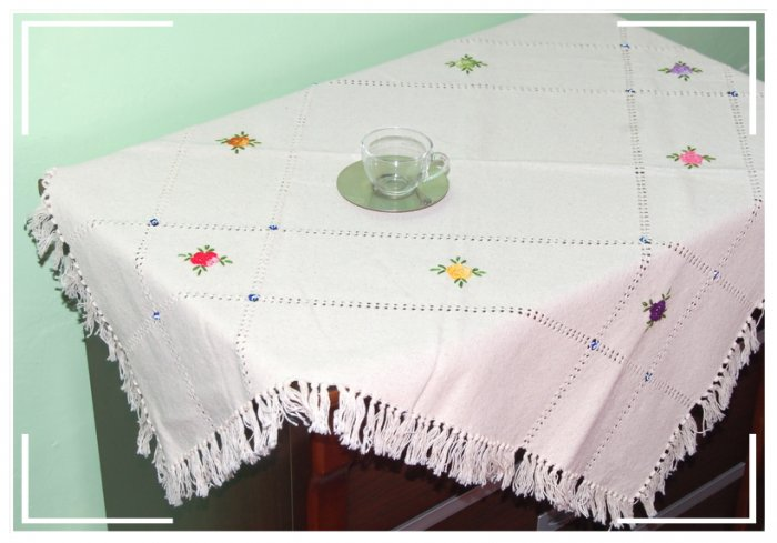 Turkish Handmade Elegant and Unique Tablecloth 12