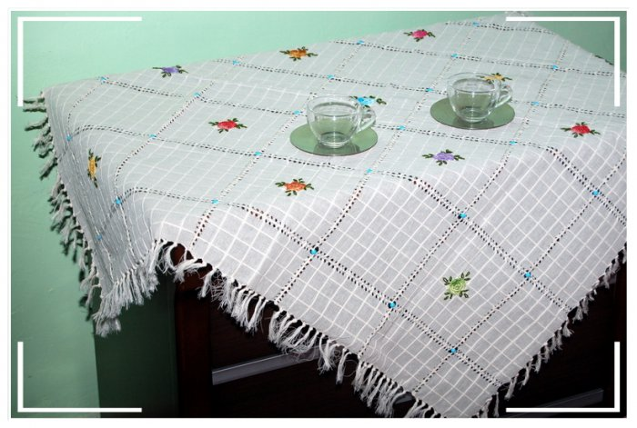 Turkish Handmade Elegant and Unique Tablecloth 10