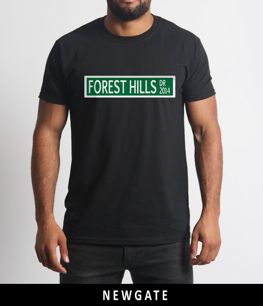 J Cole Forest Hills Drive Logo New T Shirt Clothing Tee Dreamville