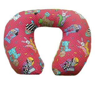 Traveling Toddler - Slumber Party- Minky Soft Luxury Travel Neck Wrap Pillow