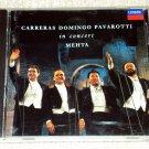 Carreras Domingo Pavarotti In Concert CD Zubin Mehta