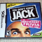 You Don't Know Jack (Nintendo DS, 2011) NEW SEALED DS