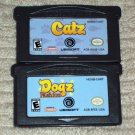 Nintendo Game Boy Advance Lot of 2 games - Catz & Dogz Fashion