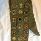 Boy Scout Sash & Badges Vintage 1950's 60's