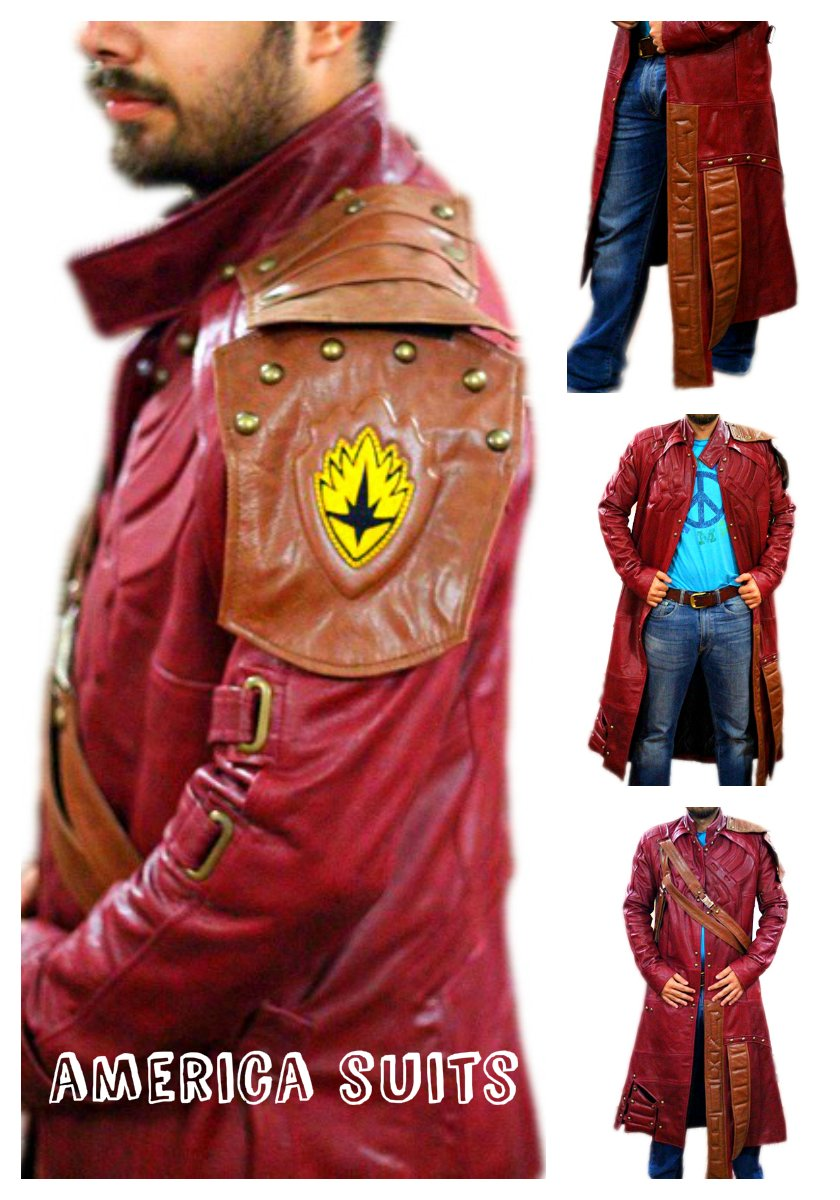 Starlord Galaxy Faux leather coat