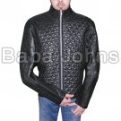 Alexander Skarsgard True Blood Quilted Black Sheepskin Leather Jacket