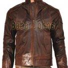 Snow lockout Guy Pearce as Marion Vintage Distressed Men's Biker Leather Jacket