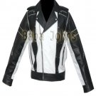 Michael Jackson MJ Pepsi Commercial Ad Black White Vintage Men's Leather Jacket