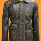 Indiana Jones Indy Vintage Cow Hide Classic Brownin Distrstrased Leather Jacket