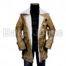 Batman DC Bane Dark Night Rises Mens Leather Batman Jacket w/ Faux Shearling Fur