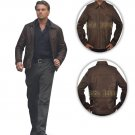 Inception Cobb Arthur Leonardo Vintage Brown Men's Fine Leather Jacket