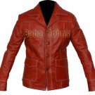 Fight Club Tyler Durden Brad Classic Punk FC Men's Leather Vintage Coat