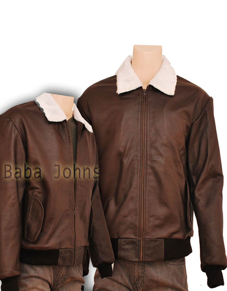 Men's Shearling B2 Bomber Classic Trucker Fine Quality Leather Jacket