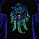 Dreamcatcher psychedelic festival t-shirt Glow under UV psy wear clothes lovers in night forest