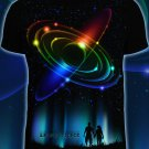 We are in srace - t-shirt Glow blacklight psy trance Space stars universe geometric Abstraction Goa