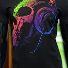 Good vibration - T-shirt for the club, rock, electronic music youth t shirt sceleton skull