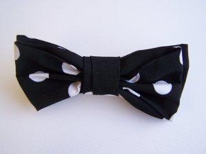 Black and White Polka Dot Hair Bow