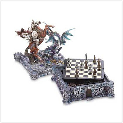 3712800: SALE: Dragons, Knights & Castle Chess Set