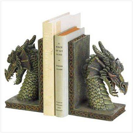 3797800: Fierce Dragon Bookends 2 pc Set