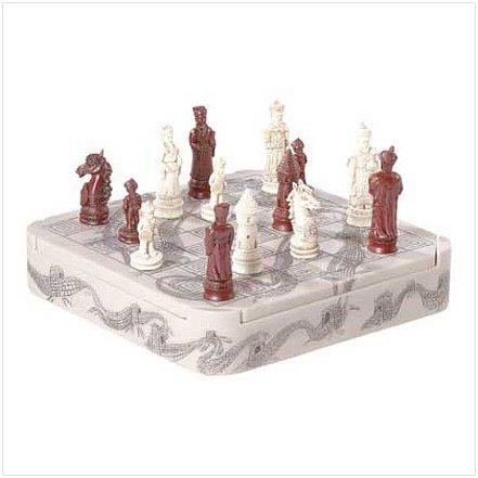 3135100: Mandarn Ivory Color Dragon Chess Set