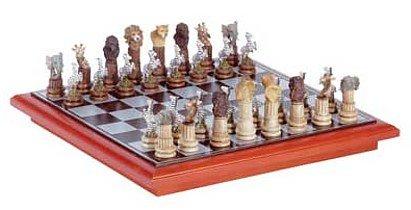 3233800: SALE:  African Safari Wildlife Animal Chess Set