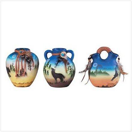 3423500: 3 pc. Southwestern Painted Vases
