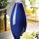 3837800: Rich Azure Tonal Blue Vase