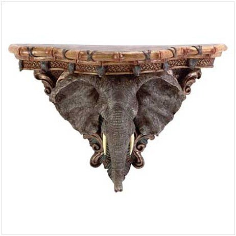 3367800: AFRICAN ELEPHANT WALL SHELF