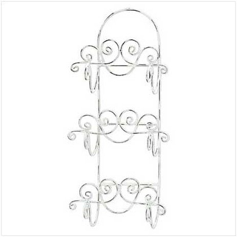 3358800: Distressed Ivory Wall Towel Rack-Limited space? You need this!