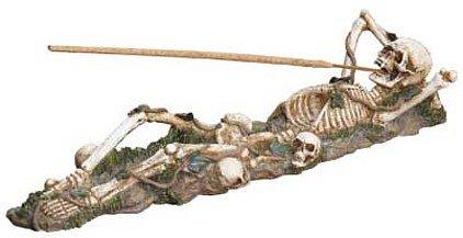 3707800: Skeleton Incense Burner Holder - Almost a Foot Long