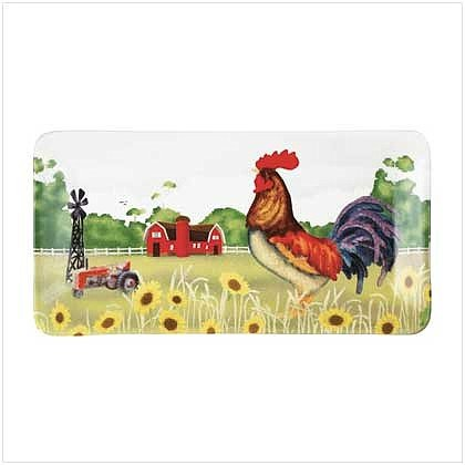 3749000: Country Rooster Serving Platter