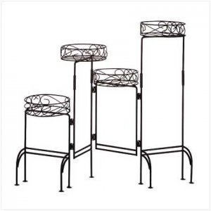 3133900: 4-TIER METAL PLANT STAND-HOLDS PLANTS SECURELY IN BASKETS