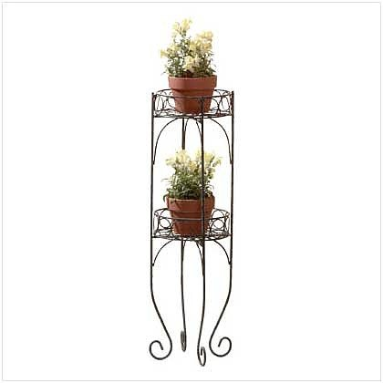 2823200: 2 TIER METAL PLANTER STAND