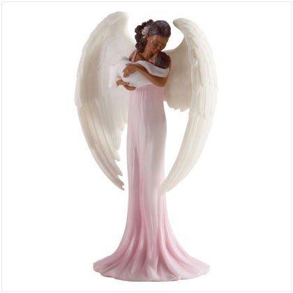 3381200 Black Female Angel and Baby Figurine - Religious Decor